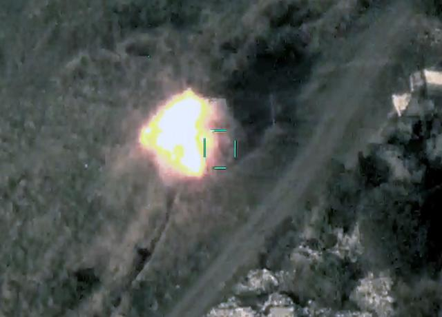 Our units continue to destroy enemy equipment -VİDEO