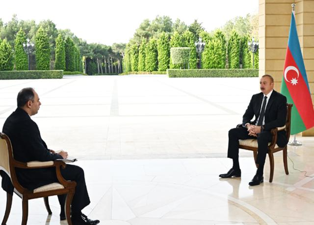 Ilham Aliyev was interviewed by Russian Interfax agency -PHOTO=2+VİDEO