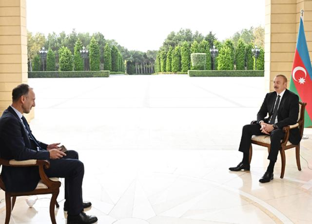Ilham Aliyev was interviewed by German ARD TV channel -PHOTO=2+VİDEO